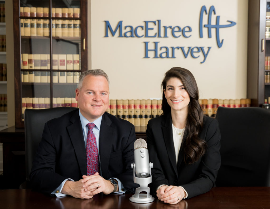 """Subject To Cross"" a podcast hosted by MacElree Harvey Attorneys, Peter Kratsa and Caroline Donato"